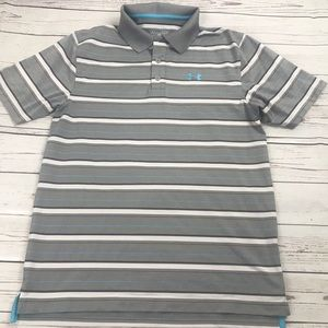 Under Armour striped polo Sz S